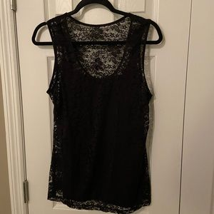 Soma lace tank with liner